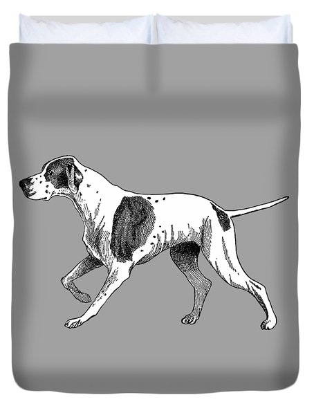 Vintage German Shorthaired Pointer Duvet Cover