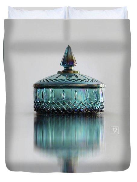 Vintage Glass Candy Jar Duvet Cover