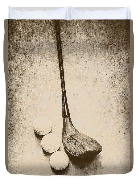 Vintage Golf Artwork Duvet Cover by Jorgo Photography - Wall Art Gallery