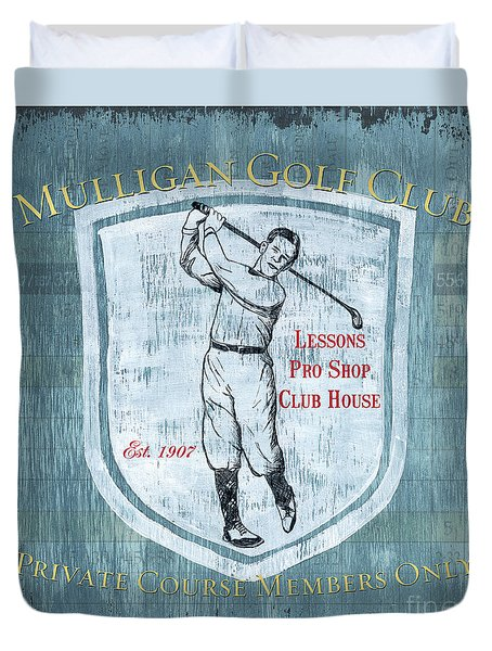 Vintage Golf Blue 1 Duvet Cover