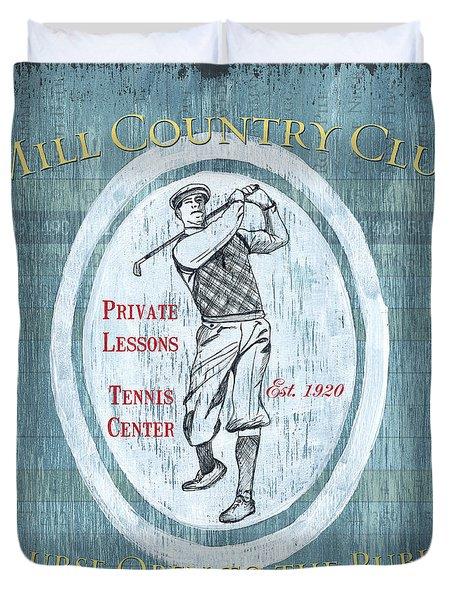 Vintage Golf Blue 2 Duvet Cover