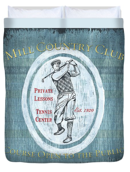 Vintage Golf Blue 2 Duvet Cover