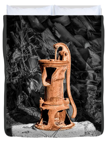 Vintage Hand Water Pump Duvet Cover