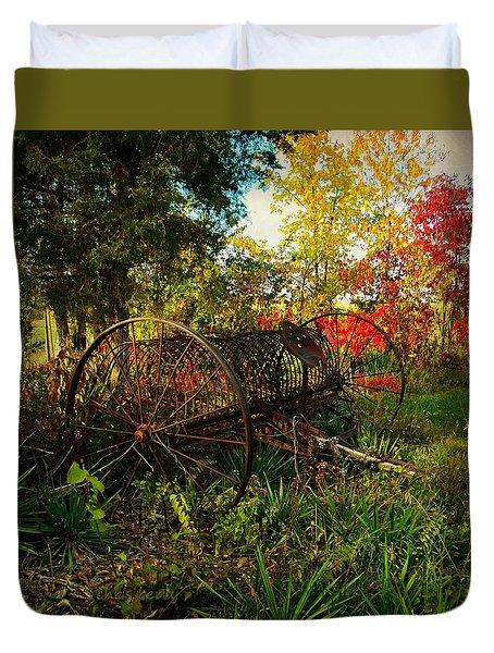 Vintage Hay Rake Duvet Cover
