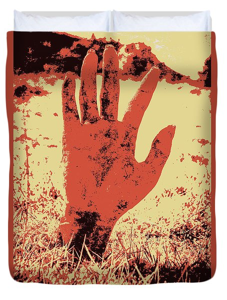 Vintage Horror Poster Art  Duvet Cover