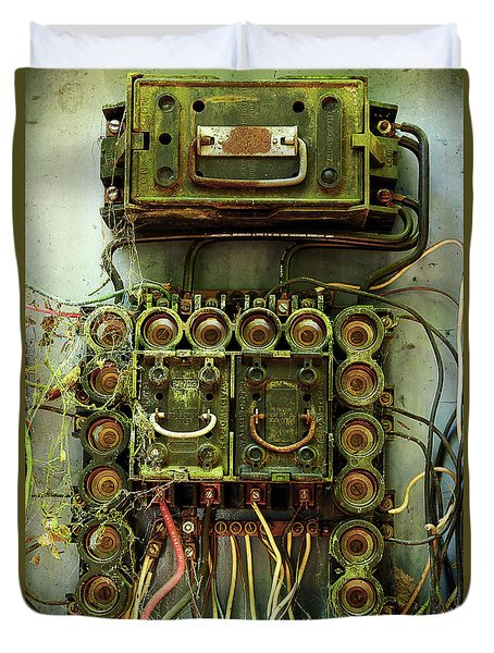 Vintage Household Fuse Box Duvet Cover by Michael Eingle