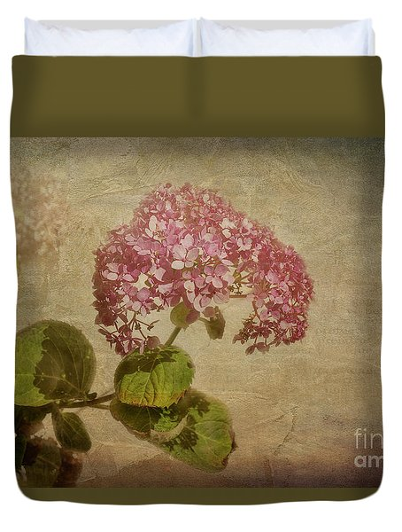 Duvet Cover featuring the photograph Vintage Hydrangea by Elaine Teague