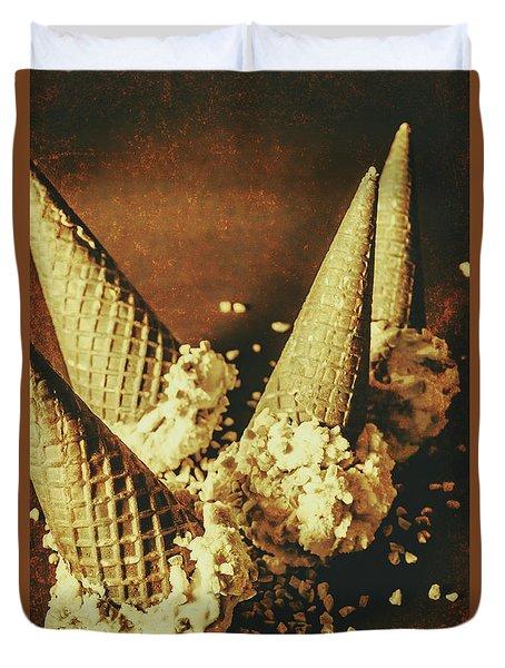 Vintage Ice Cream Cones Still Life Duvet Cover