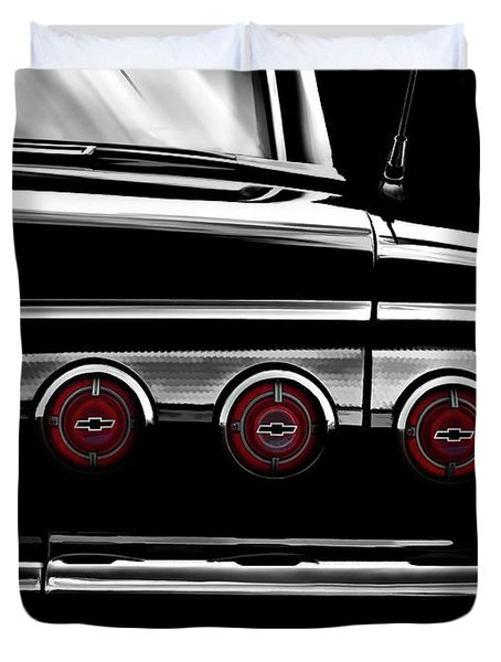 Vintage Impala Black And White Duvet Cover