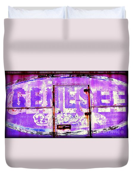 Vintage Industrial Genesee Beer Sign Duvet Cover
