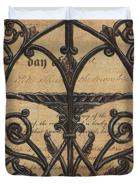 Vintage Iron Scroll Gate 1 Duvet Cover by Debbie DeWitt