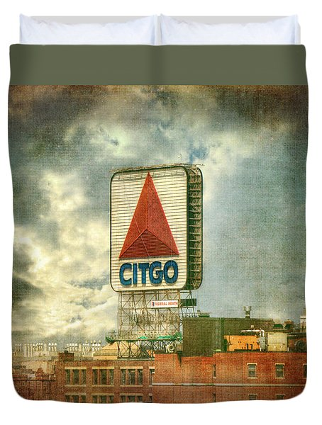 Vintage Kenmore Square Citgo Sign - Boston Red Sox Duvet Cover