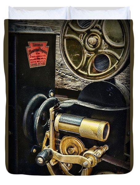 Vintage Keystone Movie Projector Duvet Cover by Paul Ward