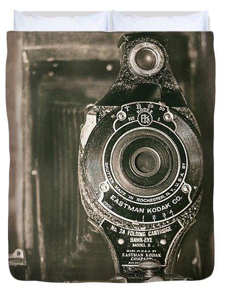 Vintage Kodak Camera Duvet Cover