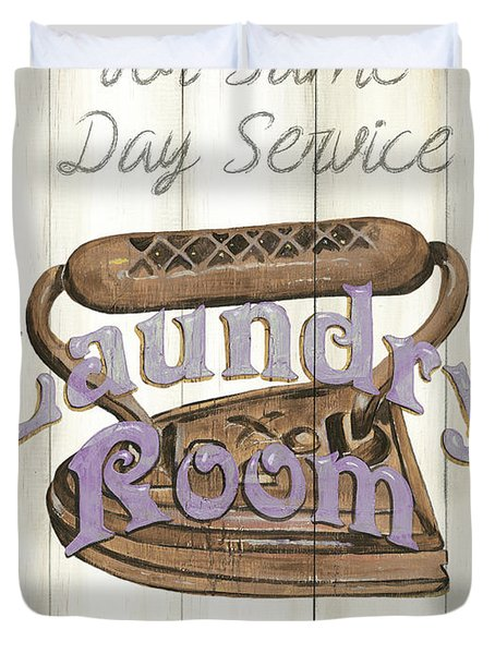 Vintage Laundry Room 1 Duvet Cover