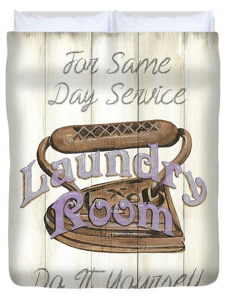 Vintage Laundry Room 1 Duvet Cover
