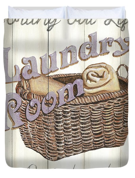 Vintage Laundry Room 2 Duvet Cover