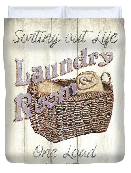 Vintage Laundry Room 2 Duvet Cover