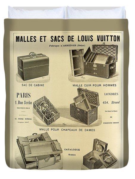 Vintage Louis Vuitton Advertisement - 1898 Duvet Cover by Mountain Dreams