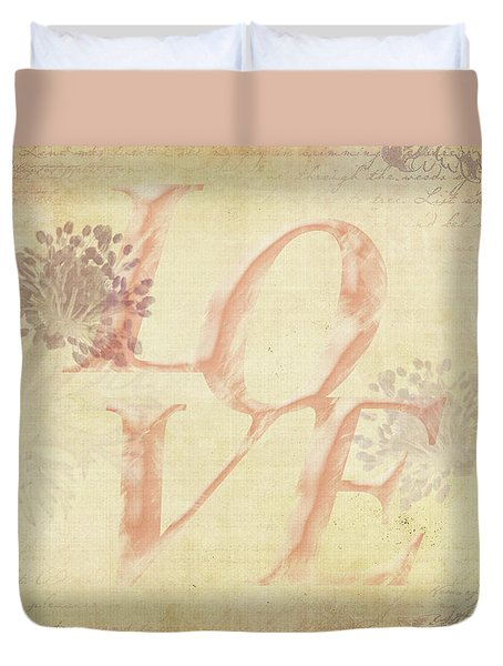 Duvet Cover featuring the photograph Vintage Love by Caitlyn Grasso