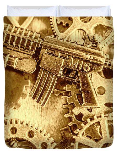 Vintage M16 Artwork Duvet Cover