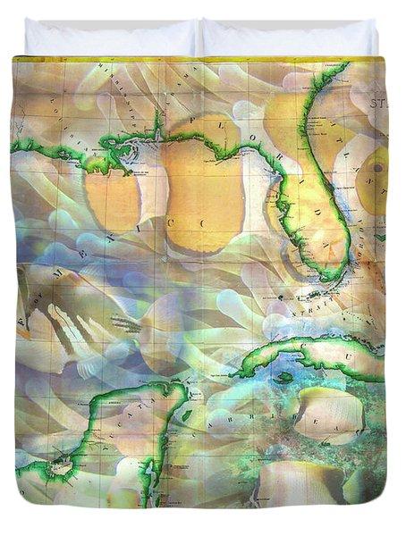 Map Of Watercolor Florida.Map Of Florida Duvet Covers Fine Art America