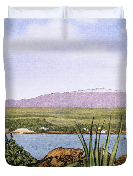 Vintage Mauna Kea Duvet Cover by Hawaiian Legacy Archive - Printscapes