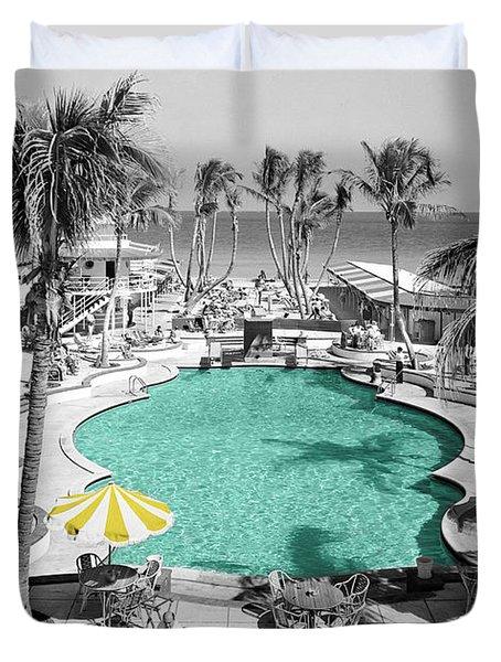 Vintage Miami Duvet Cover