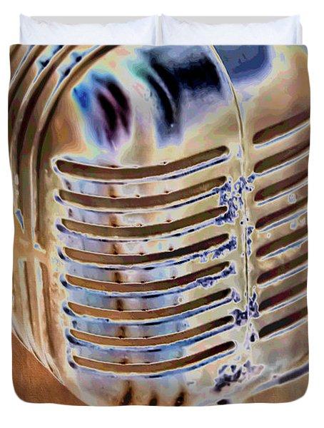 Vintage Microphone Duvet Cover