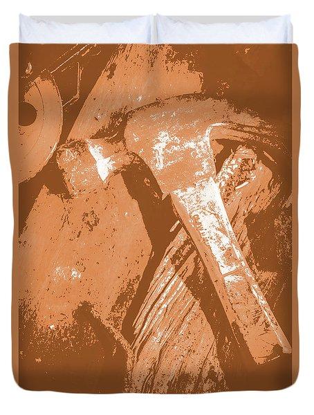 Vintage Miners Hammer Artwork Duvet Cover