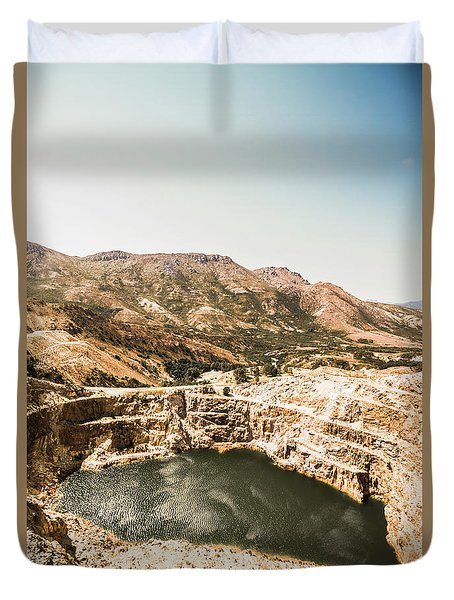 Vintage Mining Pit Duvet Cover