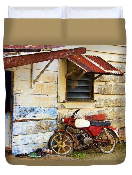 Vintage Motorbike Duvet Cover