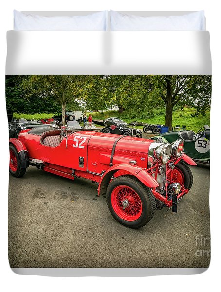 Duvet Cover featuring the photograph Vintage Motors by Adrian Evans