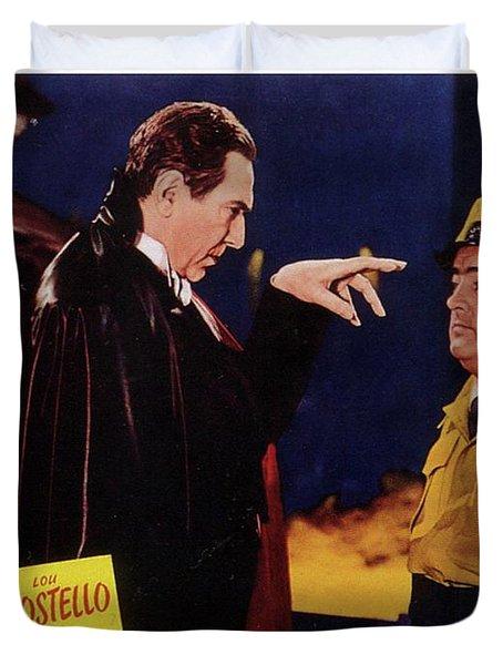 Vintage Movie Posters, Abbott And Costello Meet Frankenstein Duvet Cover