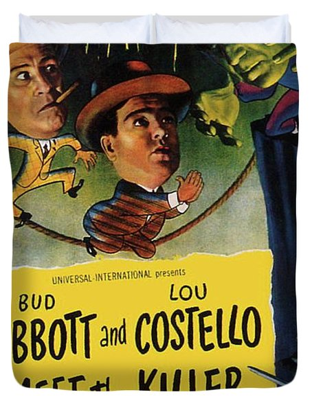 Vintage Movie Posters, Abbott And Costello Meet The Killer Duvet Cover