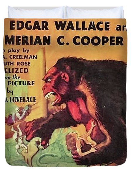 Vintage Movie Posters, King Kong Duvet Cover