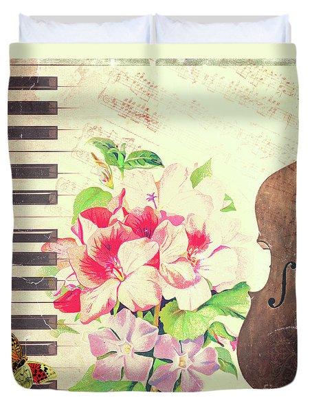 Vintage Music Duvet Cover