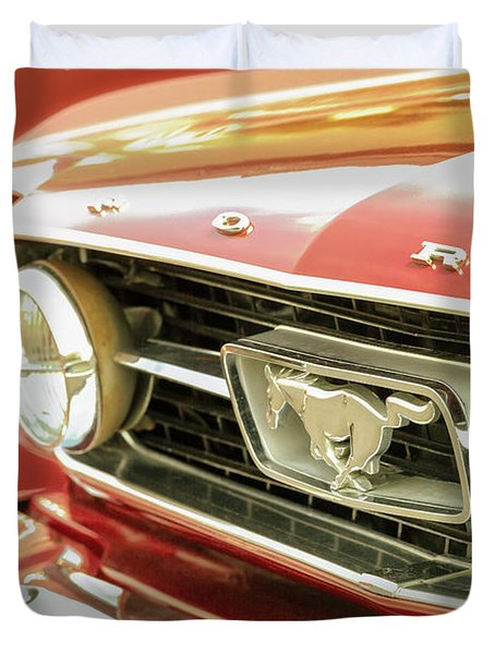 Duvet Cover featuring the photograph Vintage Mustang by Caitlyn Grasso