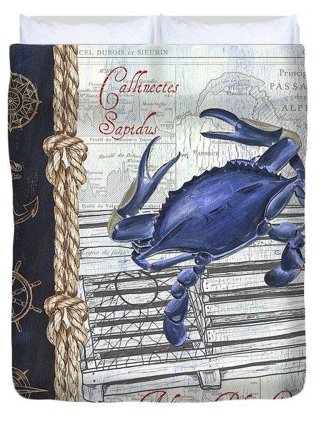 Vintage Nautical Crab Duvet Cover