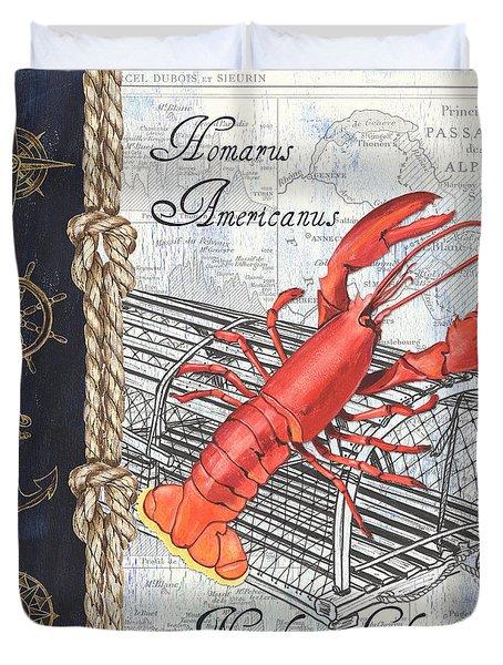 Vintage Nautical Lobster Duvet Cover