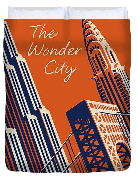 Vintage New York City Travel Poster Duvet Cover