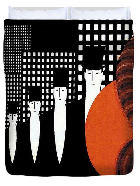 Vintage New York Glamour Art Deco Duvet Cover