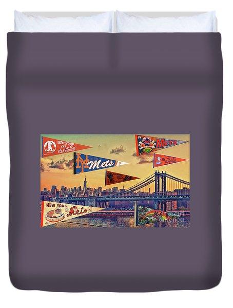 Vintage New York Mets Duvet Cover