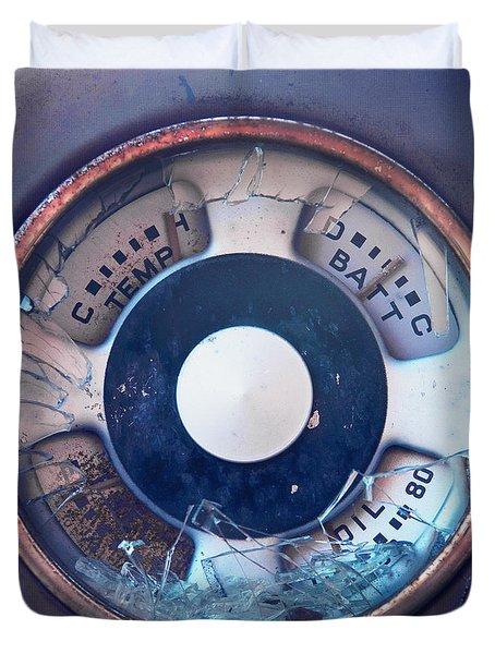 Vintage Oil Indicator Duvet Cover by Priska Wettstein