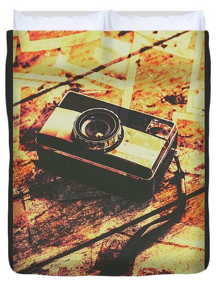 Vintage Old-fashioned Film Camera Duvet Cover