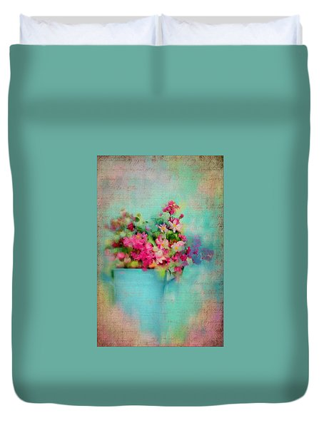 Flowers From A Cottage Garden Duvet Cover