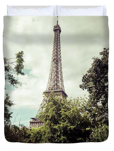 Vintage Paris Landscape Duvet Cover