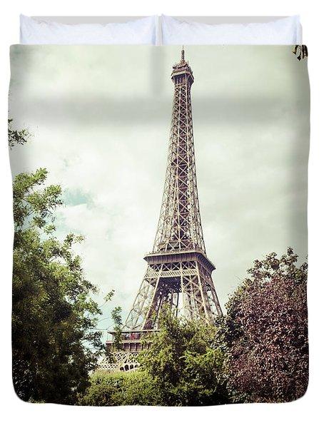 Vintage Paris Duvet Cover