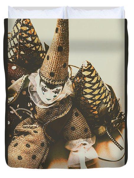 Vintage Party Puppet Duvet Cover