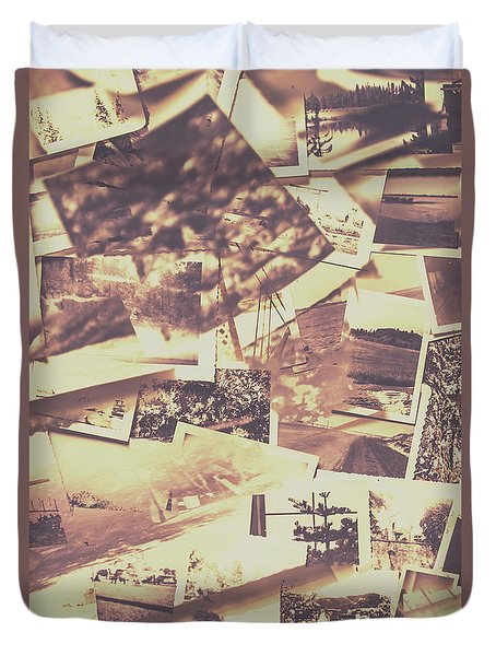 Vintage Photo Design Abstract Background Duvet Cover